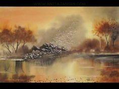 """watercolour demo- aquarelle    """" the flight""""    l'envol"""