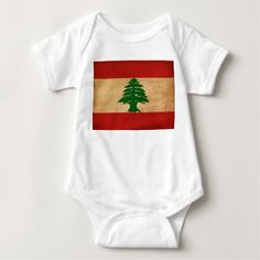 Shop Lebanon Flag Baby Bodysuit created by Zipperedflags. Lebanon Flag, Beirut Lebanon, Flag Country, Love Your Home, Flag Design, Consumer Products, Cotton Thread, Baby Bodysuit, Kids Outfits