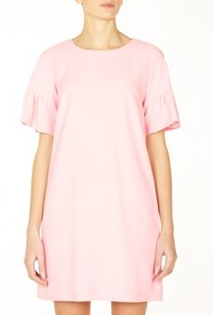 Frill Sleeve Silk Dress by Red Valentino