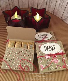 Stampin 'Up! – Merci packaging with candy cane magic and perfectly packaged Stampin 'Up! – Merci packaging with candy cane magic and perfectly packaged Stampin Up, Diy Cadeau Maitresse, Deco Harry Potter, 3d Christmas, Punch Board, Try To Remember, Candy Cane, Goodies, Thankful