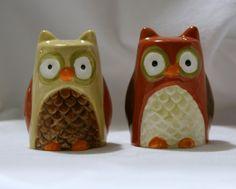 Owls Salt N Pepper, Salt Pepper Shakers, Salt Of The Earth, Owl Always Love You, Owls, Stuffed Peppers, How To Make, Fun, Salt And Light