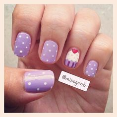 awesome I have done this, it looks great!! For the cup part on the cupcake try using glitter nail polish it looks super cute! - Nail Art Ideas