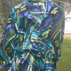 Multicolored Blouse Very flowy...forearm sleeves Cato Tops Blouses