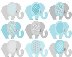 Resultado de imagen para free printable elephant baby shower decorations