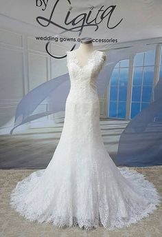 Brides looking for a simple elegant A-line gown will love Lilia! This gown is just fabulous, with a sexy V back and French lace detail. Bridal Dresses, Wedding Gowns, Dress Attire, A Line Gown, French Lace, Lace Detail, Couture, Bride, Elegant