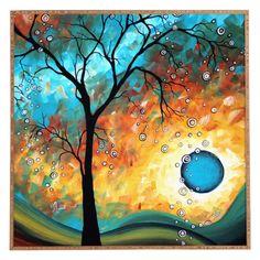 Deny Designs Madart Inc. Aqua Burn Framed Wall Art, Multi