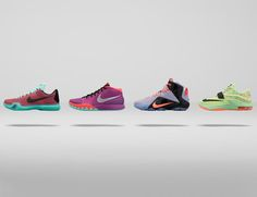 """Easter is approaching, and that means that Nike Basketball is breaking out the 2015 """"Easter"""" collection, featuring the Kobe X, Kyrie 1, LeBron 12 and KD7."""