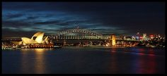 Harbour Bridge and Opera House at Night, View from Mrs.Macquaries Chair, Sydney, New South Wales, Australia. Best Sydney photography spots for great pictures. Sydney Photography, Landscape Photography Tips, Photography Guide, Landscape Photographers, Amazing Photography, Australia 2018, Sydney Australia, Sydney Skyline, Photo Location