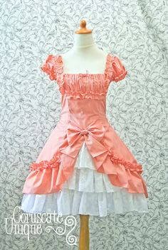 Classic Lolita Drapery Dress Detailed by CoruscateUnique on Etsy, $210.00