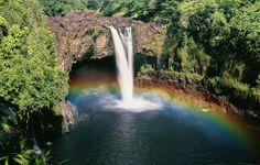 Rainbow Falls Hawaii  #landscape #rainbow #falls #hawaii #photography