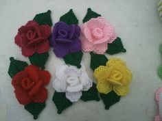 plastic canvas roses by cpt4morgan on Etsy                                                                                                                                                                                 More