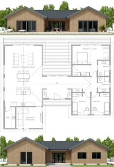 Architecture House Plan, Home Plans, Planta de Casa, Casa Pequena House Layout Plans, New House Plans, Dream House Plans, Modern House Plans, Small House Plans, House Layouts, House Floor Plans, Dog Trot House Plans, Pole Barn Homes