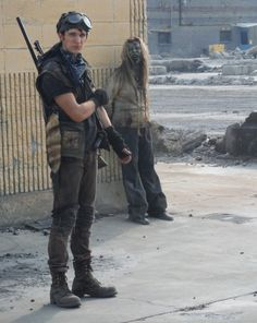 Here's a behind the scenes photo of Nat Zang being photobombed by a zombie to cheer you up! Apocalypse Landscape, Apocalypse Aesthetic, Z Nation, Scene Photo, Actor Model, In The Flesh, Low Key, Hot Boys, Super Powers