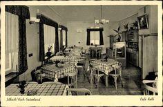 Ansichtskarte / Postkarte Silbach Winterberg im Sauerland, Café Kalö, Innenansicht