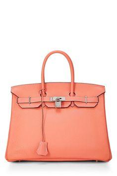 b312f0d7f0 What Goes Around Comes Around Crevette Clemence Birkin 35Cm - Hermès - Pink