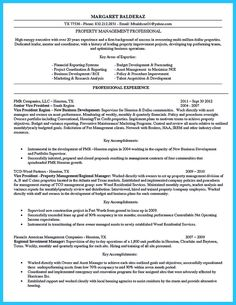 Click Here to Download this Property Manager Resume Template! http ...