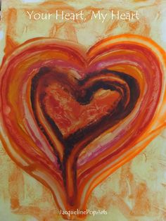 Your Heart, My Heart, encaustic art by JacquelinePopArts  - Art with a Heart - Valentijn - Valentines Day