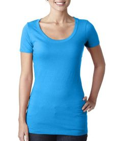 Next Level Womens Scoop Neck Tee N3530 -TURQUOISE 2X