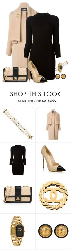 """""""SPECIAL DINNER INVITATION"""" by arjanadesign ❤ liked on Polyvore featuring Chanel, MSGM, Maison Margiela and Casadei"""