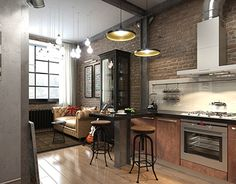 "Popatrz na ten projekt w @Behance: ""Loft apartment 35 sq.m."" https://www.behance.net/gallery/20848219/Loft-apartment-35-sqm"