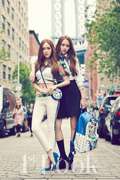Sisters Girls' Generation's Jessica Jung and f(x)'s Krystal 1st. Look Korea Magazine Vol.70