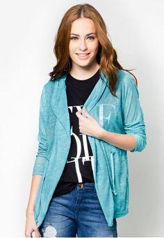 UV CUT HOODIE CARDIGAN  Price : RM19 #yoloveitmy #yoloveitmalaysia #cardigan #zaloramy #under20 #blue #plain #simple #casual