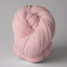 Nirvana, a merino yarn with a touch of cashmere, in Shell.