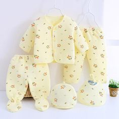5pcs! 2017 high quality Warm Underwear baby sets new born baby boy clothes and girl clothing winter infant set for NB 0-3M