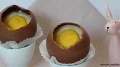 töltött csoki tojás Desserts, Food, Tailgate Desserts, Deserts, Essen, Dessert, Yemek, Food Deserts, Meals