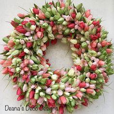 Tulip Wreath Spring Tulip Wreath Tulip Spring Wreath