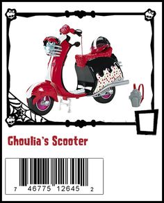 Ghoulia's scooter Monster High Ghoulia, Monster High Dolls, Monster High House, Play Sets, Ever After High, Dance Class, Doll Stuff, Ladybug, Giveaway