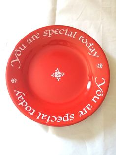 """Vintage 1979 The Original Red Plate Co. """"You Are Special Today"""" Plate"""