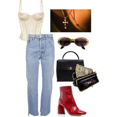 Untitled #159 by m3287 on Polyvore featuring Vetements, STELLA McCARTNEY, E L L E R Y, AmeriLeather, Chanel and Gucci