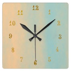 Stone Look>Patterned Square Wall Clock