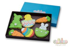 Pack especial de Pascua en color verde: http://www.galletea.com/galletas-decoradas/