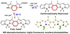 Conformation-Restricted Partially and Fully Fused BODIPY Dimers as Highly Stable Near-Infrared Fluorescent Dyes DOI: 10.1021/acs.orglett.5b02717