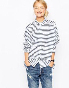Monki | Monki Stripe Shirt at ASOS