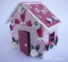 Tarjetas, manualidades para niños, Proyectos: Reciclaje Craft-Doll House Making Tutorial