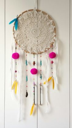 Crochet doily dreamcatcher <3