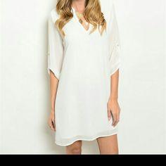 * 1 HR SALE * Classy  Ivory Dress Ivory dress Dresses