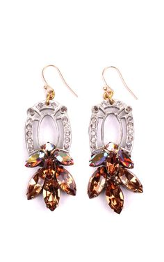 100 Year Earrings Featuring Vintage Parts From 1860-1960 by Lulu Frost