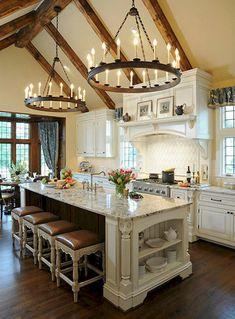 40+ amazing french country kitchen modern design ideas (23)