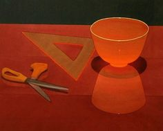 Mark Adams  Orange Glass Bowl  1995