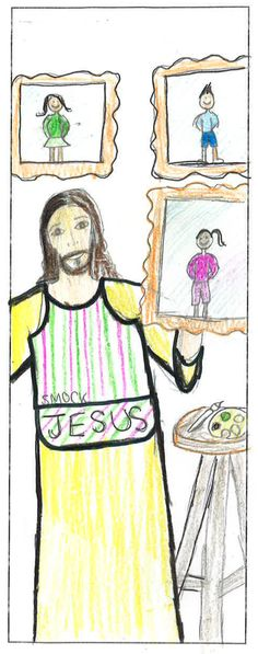 """Bookmark Level I entry on Respect Life theme """"Each of Us is a Masterpiece of God's Creation!"""" All entries are property of Respect Life Diocese of Rockville Centre Office © 2015"""