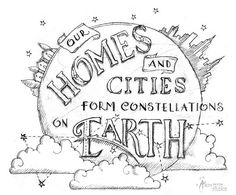 Our Homes and Cities Form Constellations on Earth