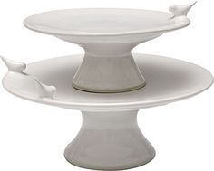 Bird cake stand by Whitney Smith Pottery