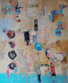 """Saatchi Online Artist Carlotte Cyrille  Mos; Painting, """"The Balancing Act IV"""" #art"""