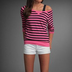 This out fit is so cute! kendell tee from Abercrombie Kids $12