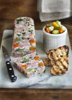 Raymond Blanc > Recipes > Ham Hock Terrine with Soused Vegetables