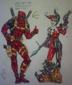 Deadpool N' Friends #1: Harley Quinn by ~KisaraAcedia on deviantART